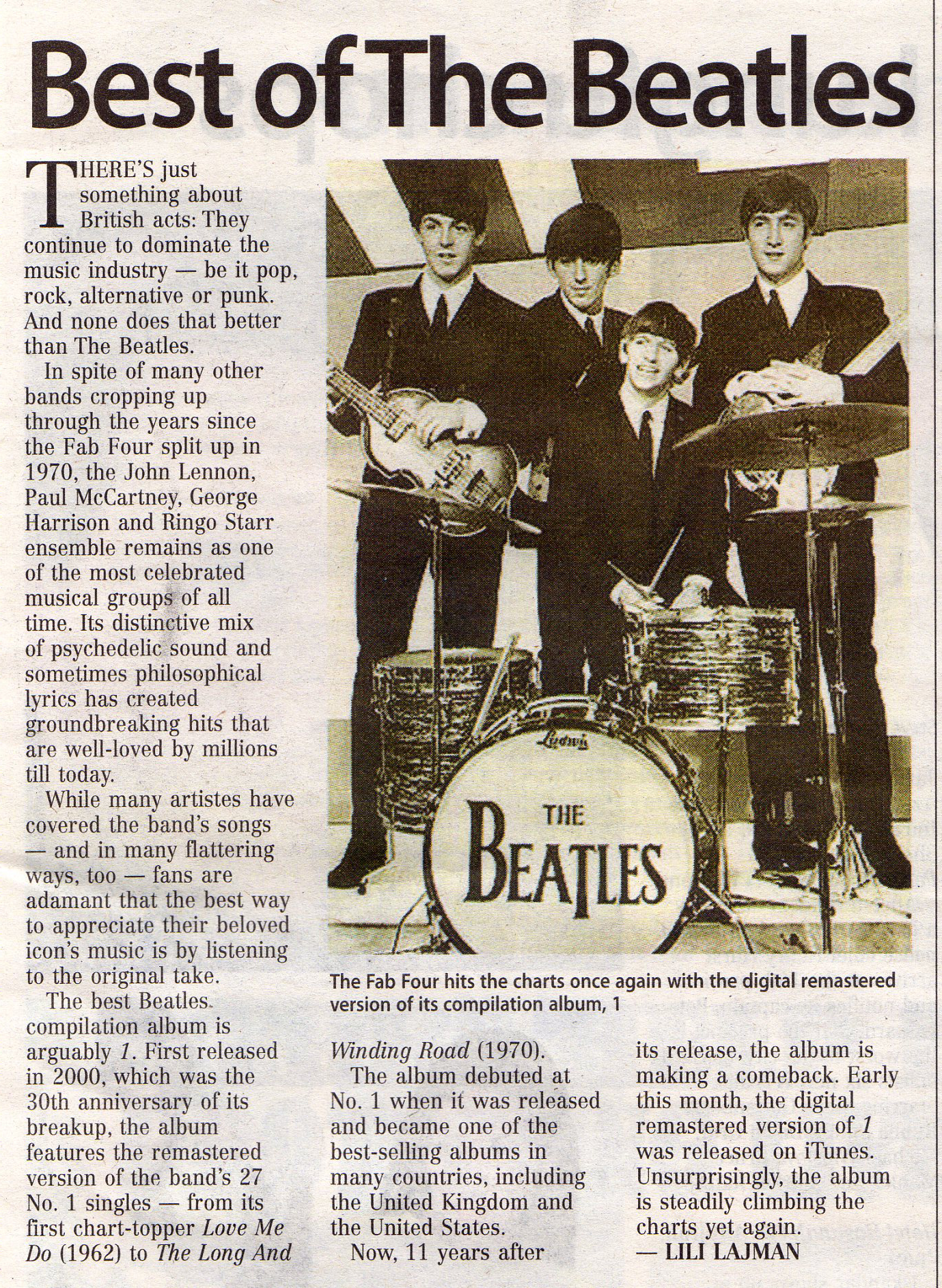 essay over the beatles