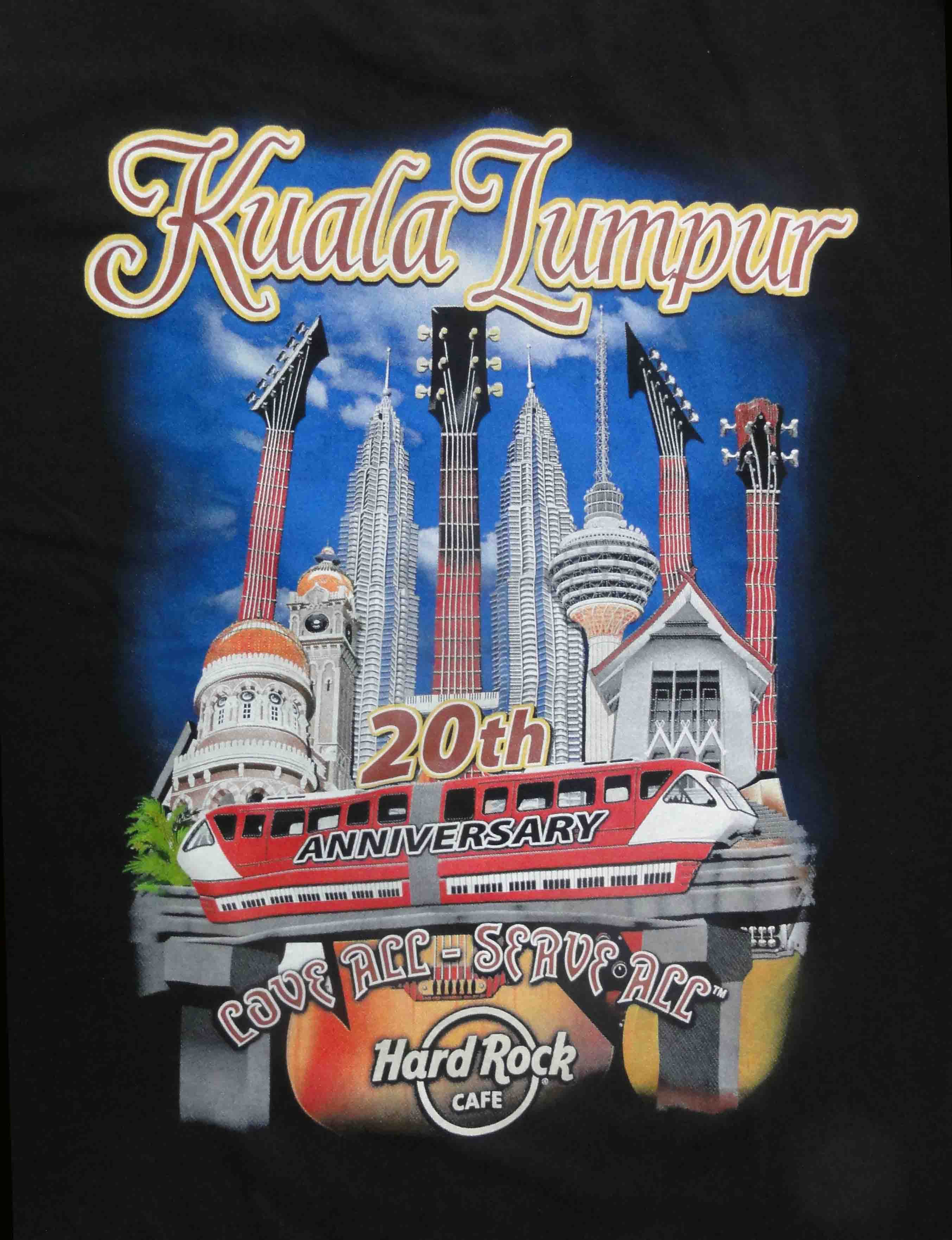 Hard Rock Cafe T Shirt Th Anniversary