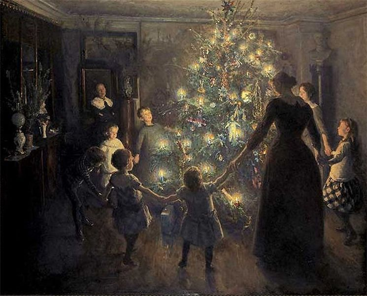 Happy ChristmasPainted by Viggo Johansen 1851-1935
