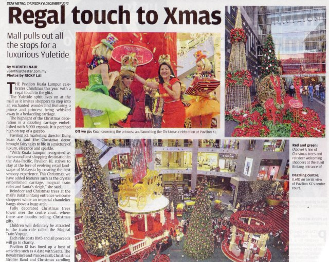 Regal touch to Xmas at Pavillion