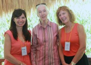 Arlene & Lauren with Dr Jane Goodall