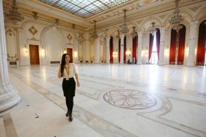 Nadia Comaneci's wedding reception was in this grand ballroom in 1996.