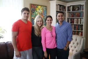 2014 Aug 09 - Liam, Stephanie, Lexi & Oscar1