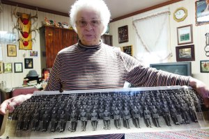 2014 Nov 04 - Mary Yarascavitch & 1942 cadet picture